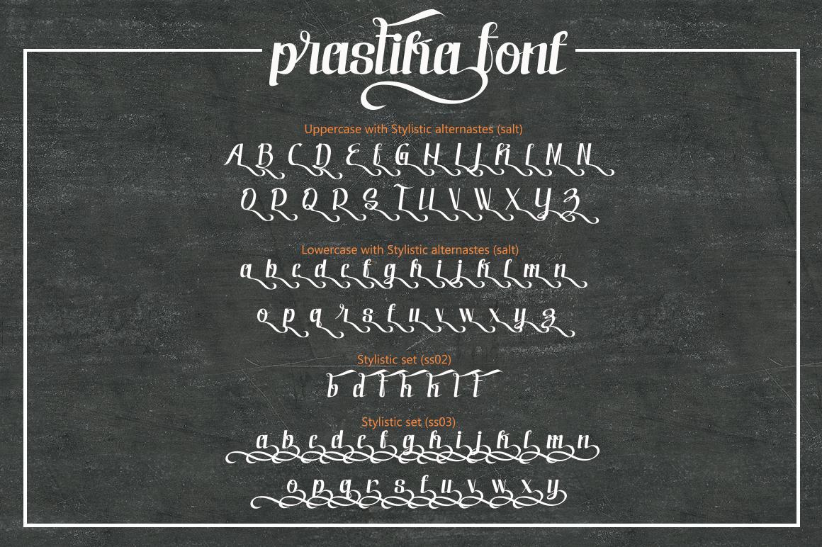 Prastika Script Typeface example image 3