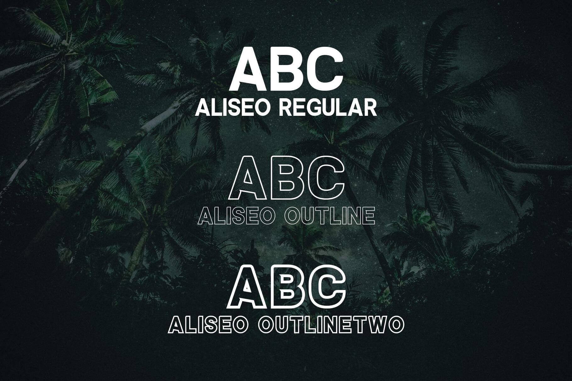 Aliseo Font Family - Sans Serif example image 2