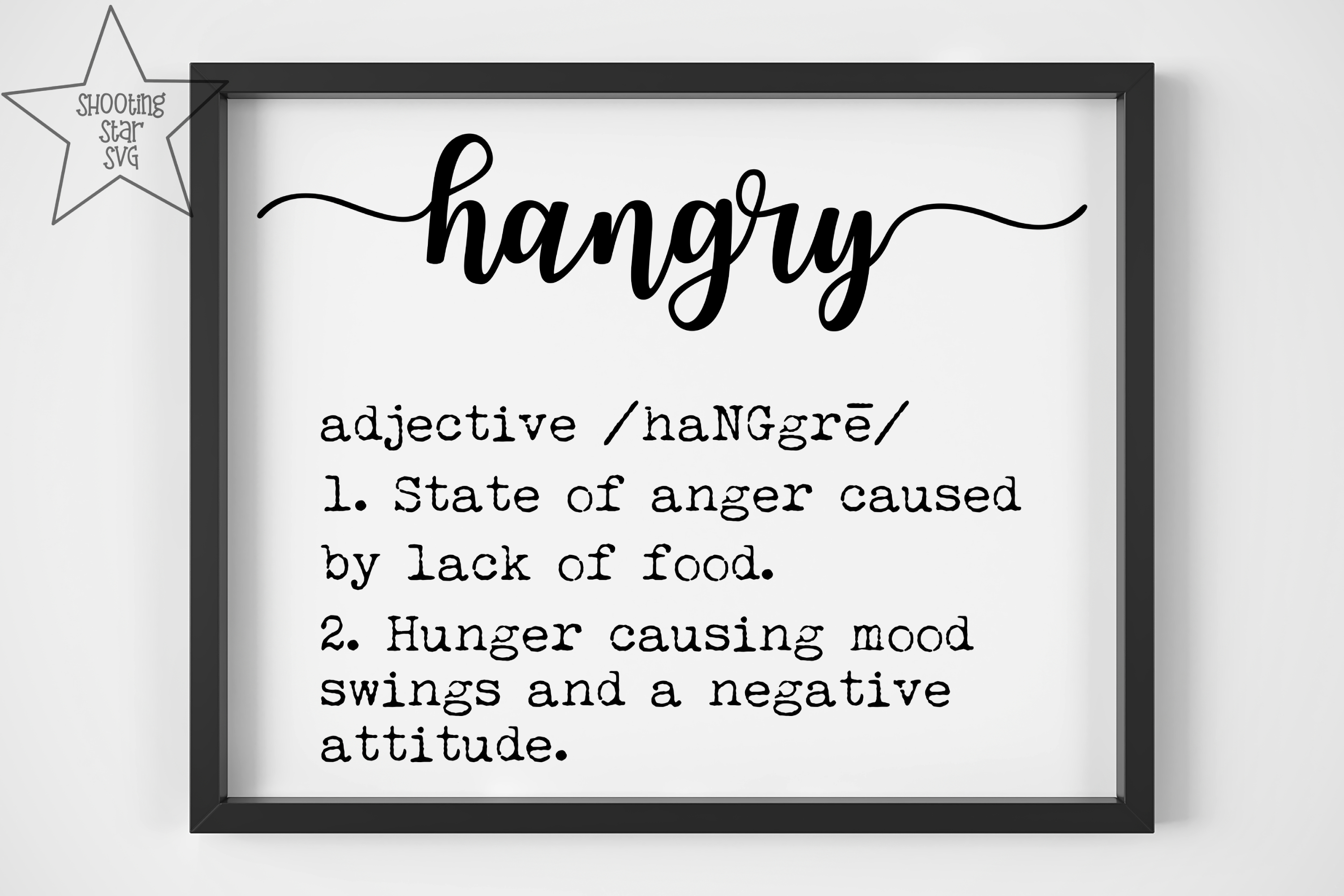 Hangry Definition SVG - Funny Definition SVG example image 2