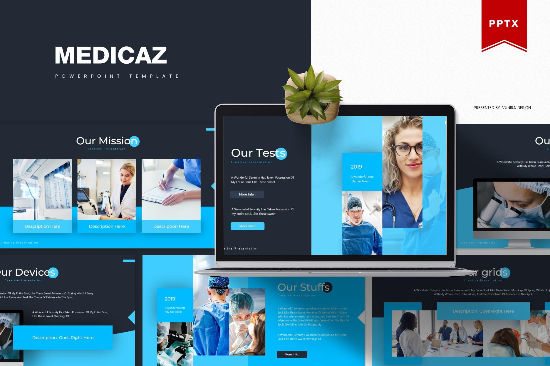 Medicaz | Powerpoint, Keynote, GoogleSlides Template example image 3