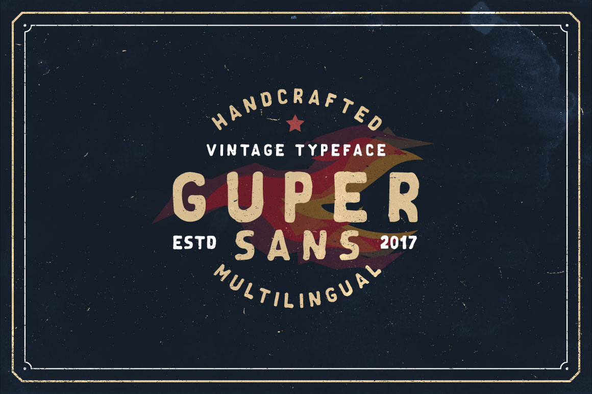 Guper Sans - Handcrafted Font example image 1