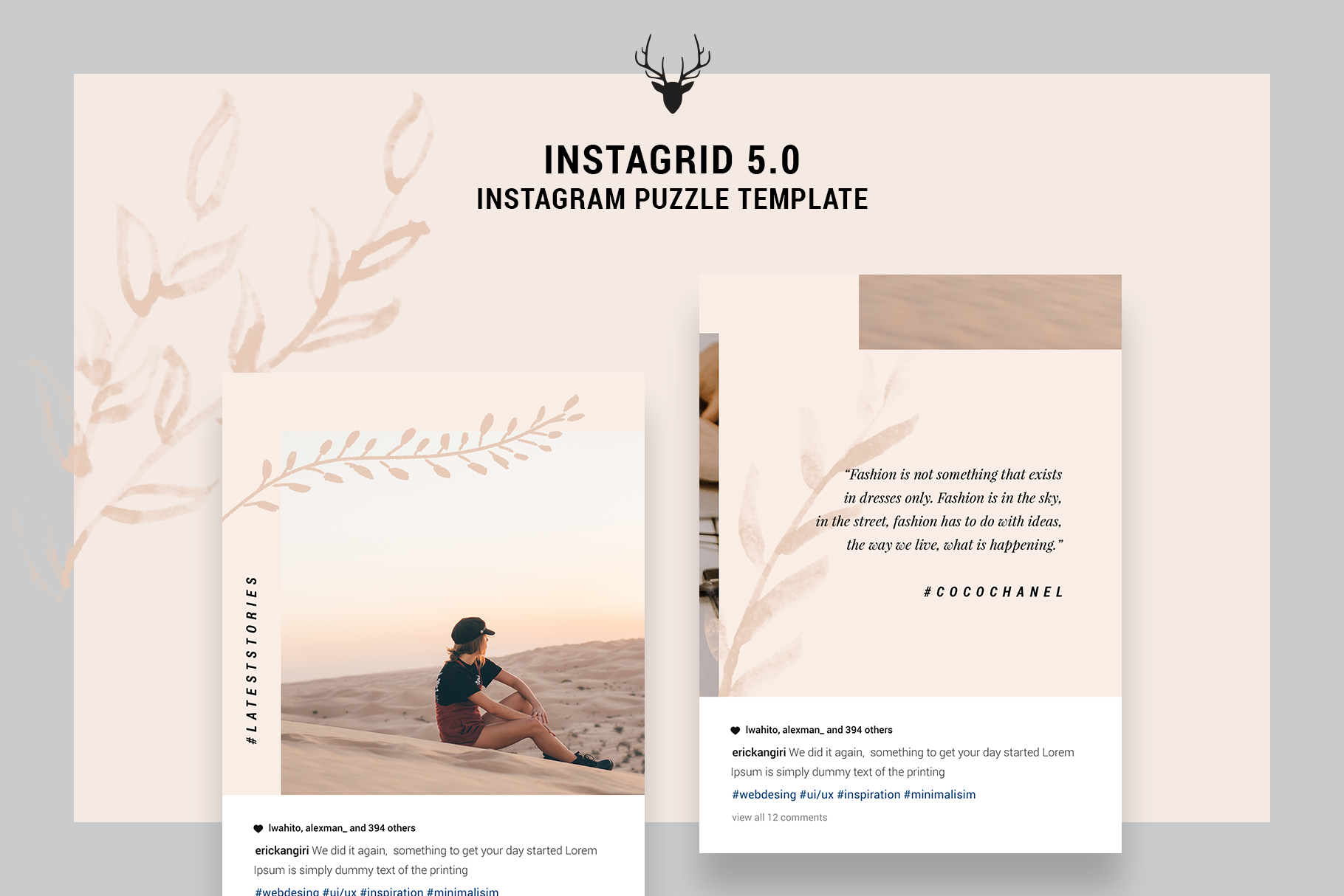 InstaGrid 5.0 - Creative & Modern Instagram Puzzle Template example image 2