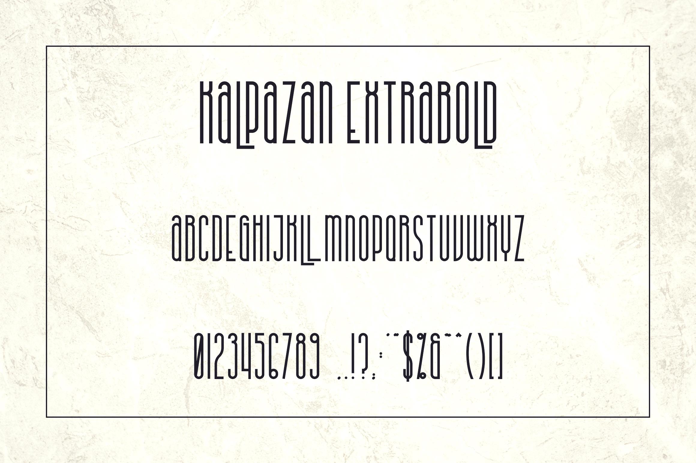 Kalpazan font family example image 12