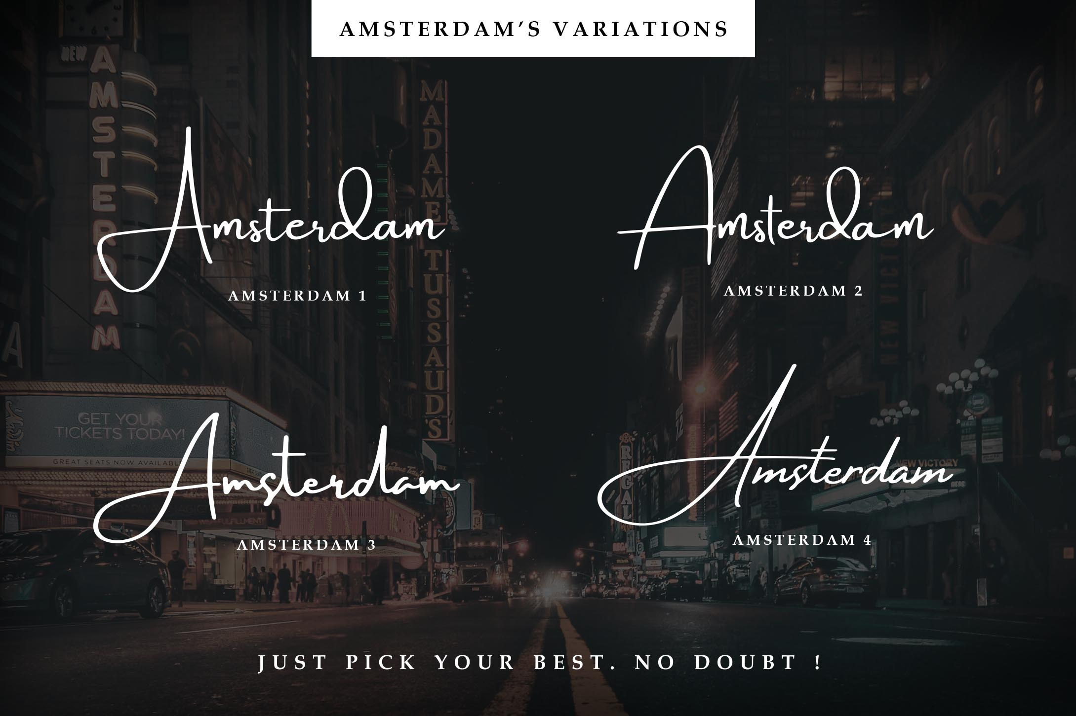 Amsterdam Font Collection | UPDATE 8 Fonts example image 2