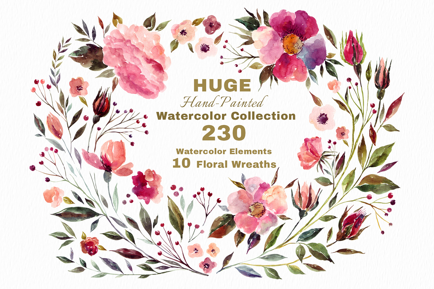 230 Watercolor graphic elements example image 1