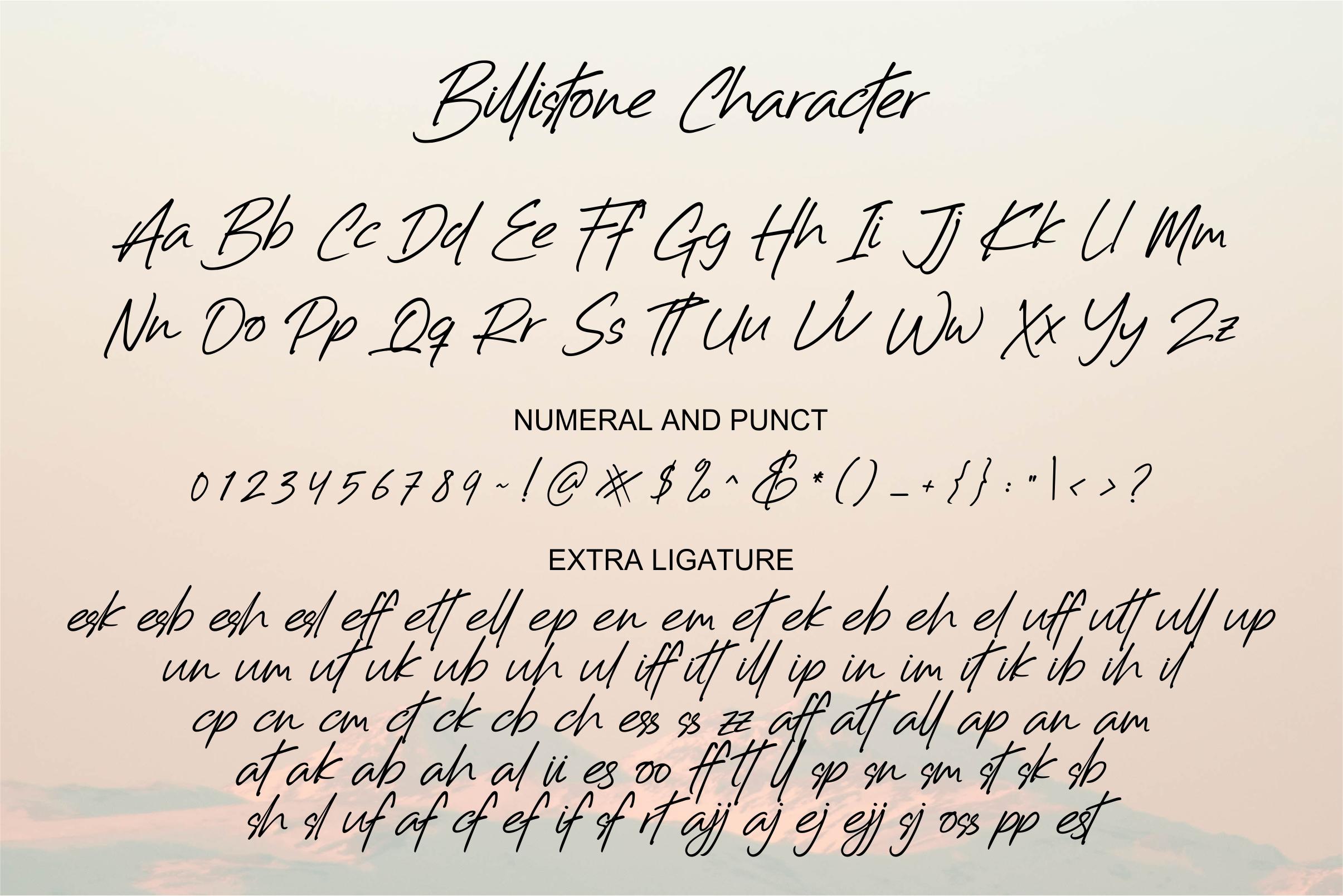 Billistone A Handwritten Font example image 9