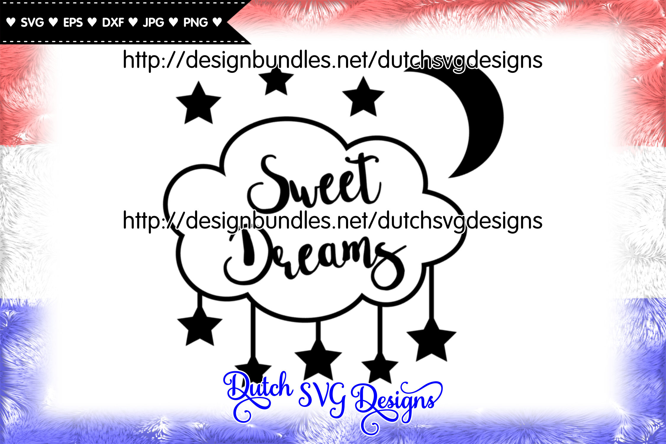 Cut file Sweet Dreams, dreams svg, nursery svg, stars svg example image 2