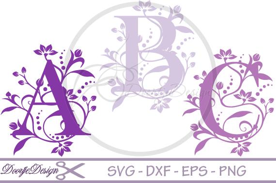 Florisch Monogram Letters SVG example image 1