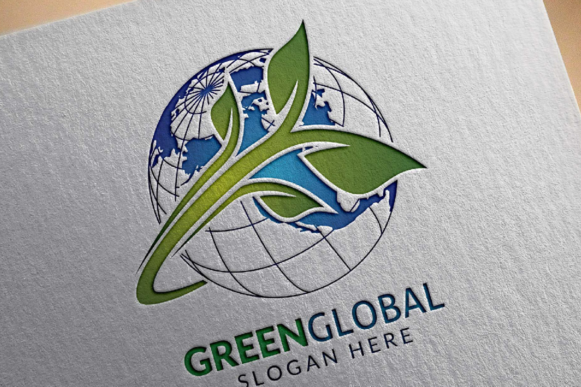 Green Global Ecology logo template example image 4