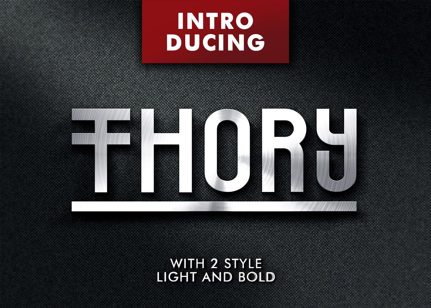 Thory Typeface example image 1