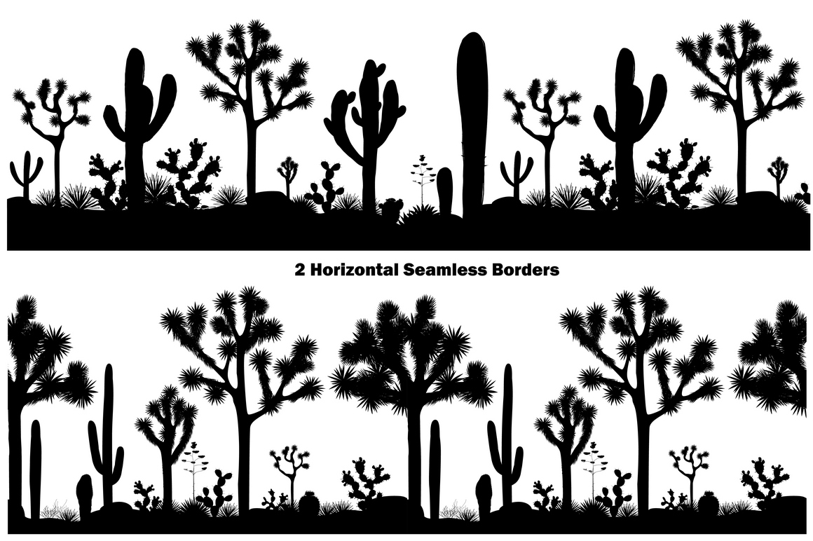 Cacti World. Big Vector Collection example image 7