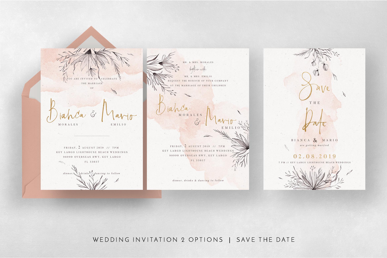 Peach & Grey Floral Wedding Suite example image 7