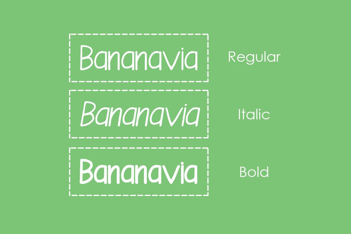 bananavia font example image 4