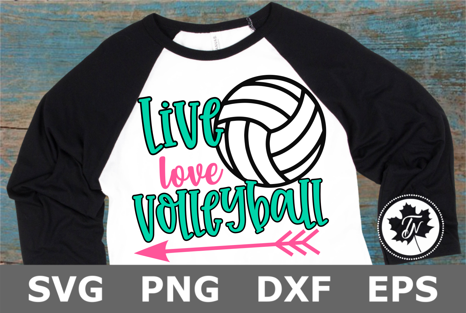 Live Love Volleyball - A Sports SVG Cut File example image 1
