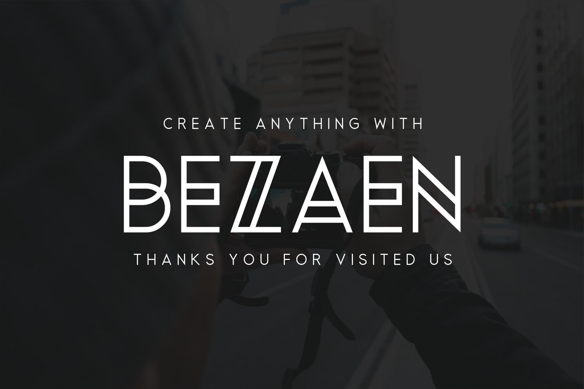 Bezaen Typeface example image 5