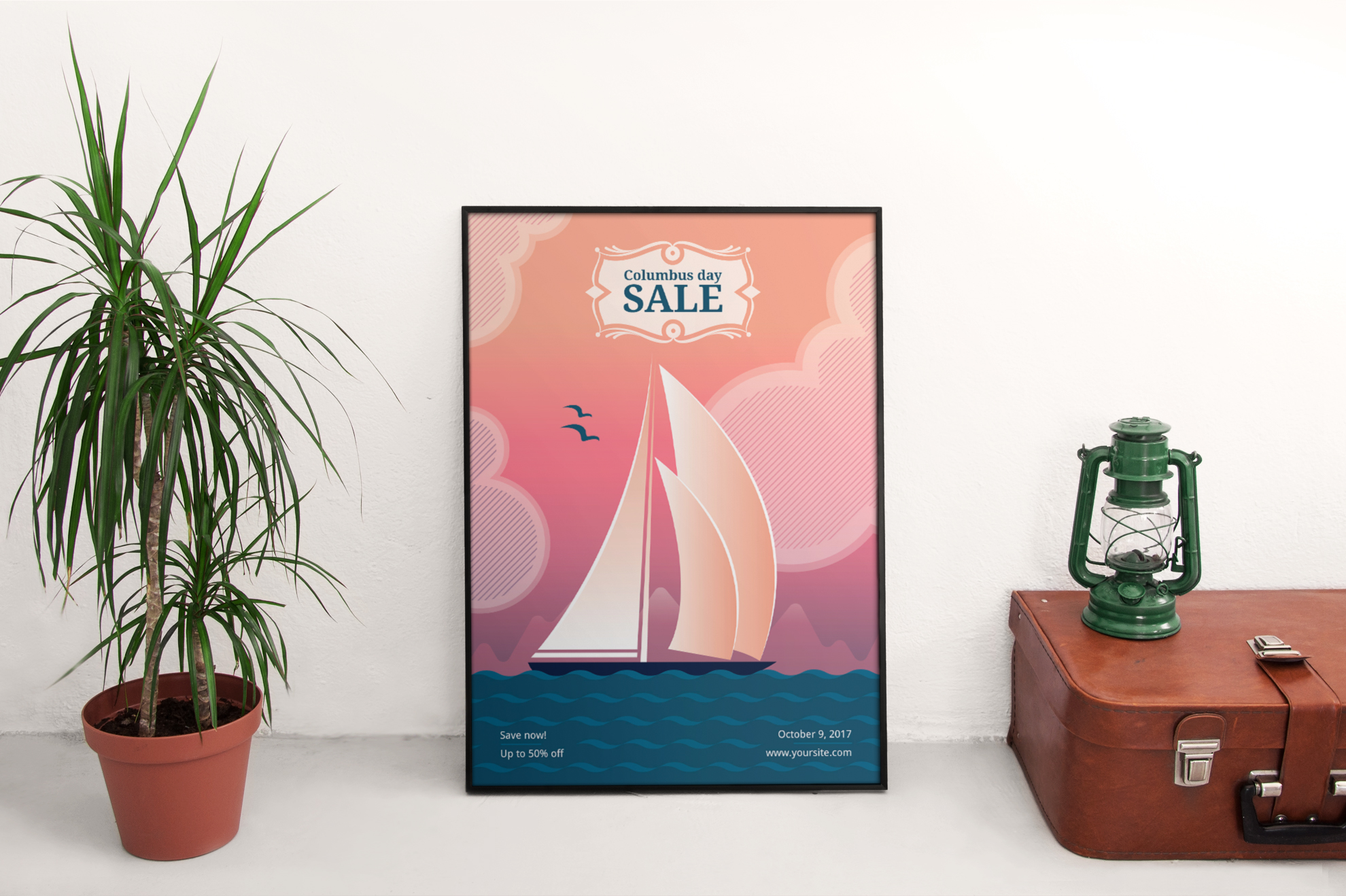 Columbus Day Sale Design Templates Bundle example image 4
