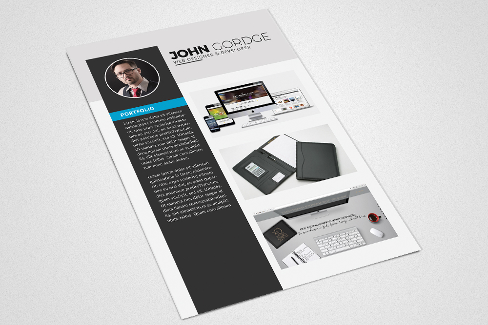 Cv Resume Corporate Design example image 2