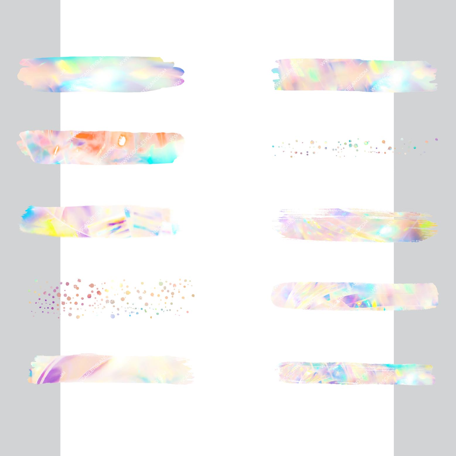 Large Holographic Brush Strokes example image 2