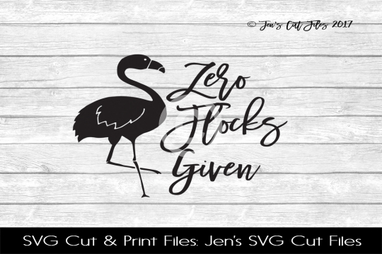 Zero Flocks Given SVG Cut File example image 1