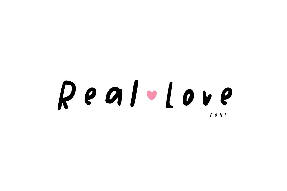 Real Love Hand Drawn Font example image 1