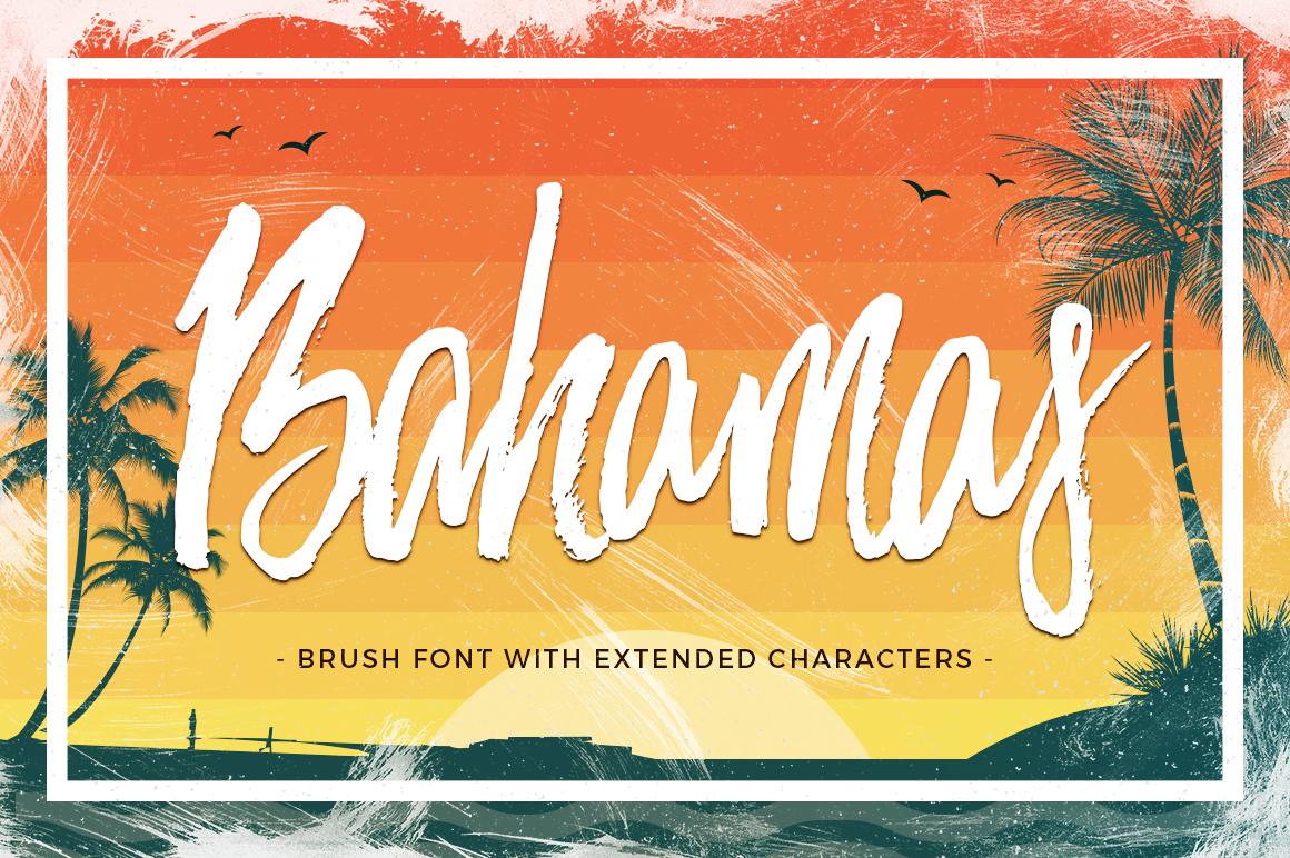 Bahamas Brush Font example image 1