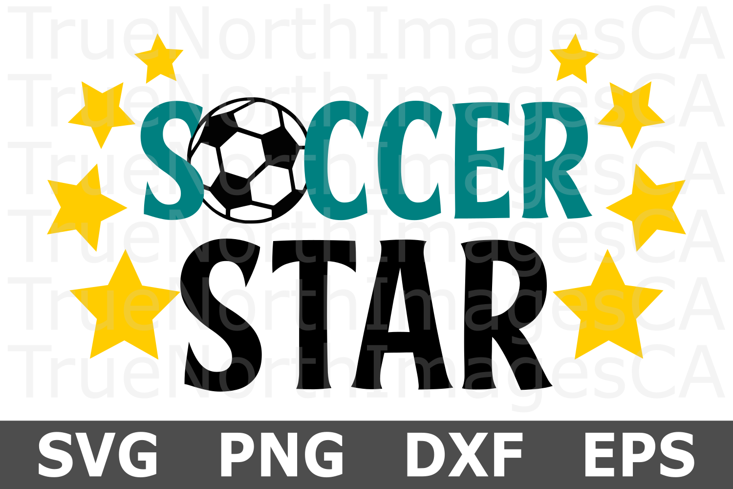 Soccer Star- A Sports SVG Cut File example image 1