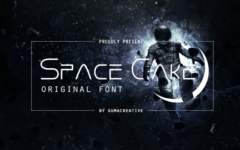 Space Cake Font example image 3