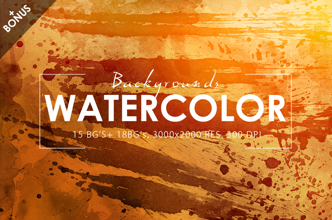 Watercolor Backgrounds 2 & Bonus example image 2