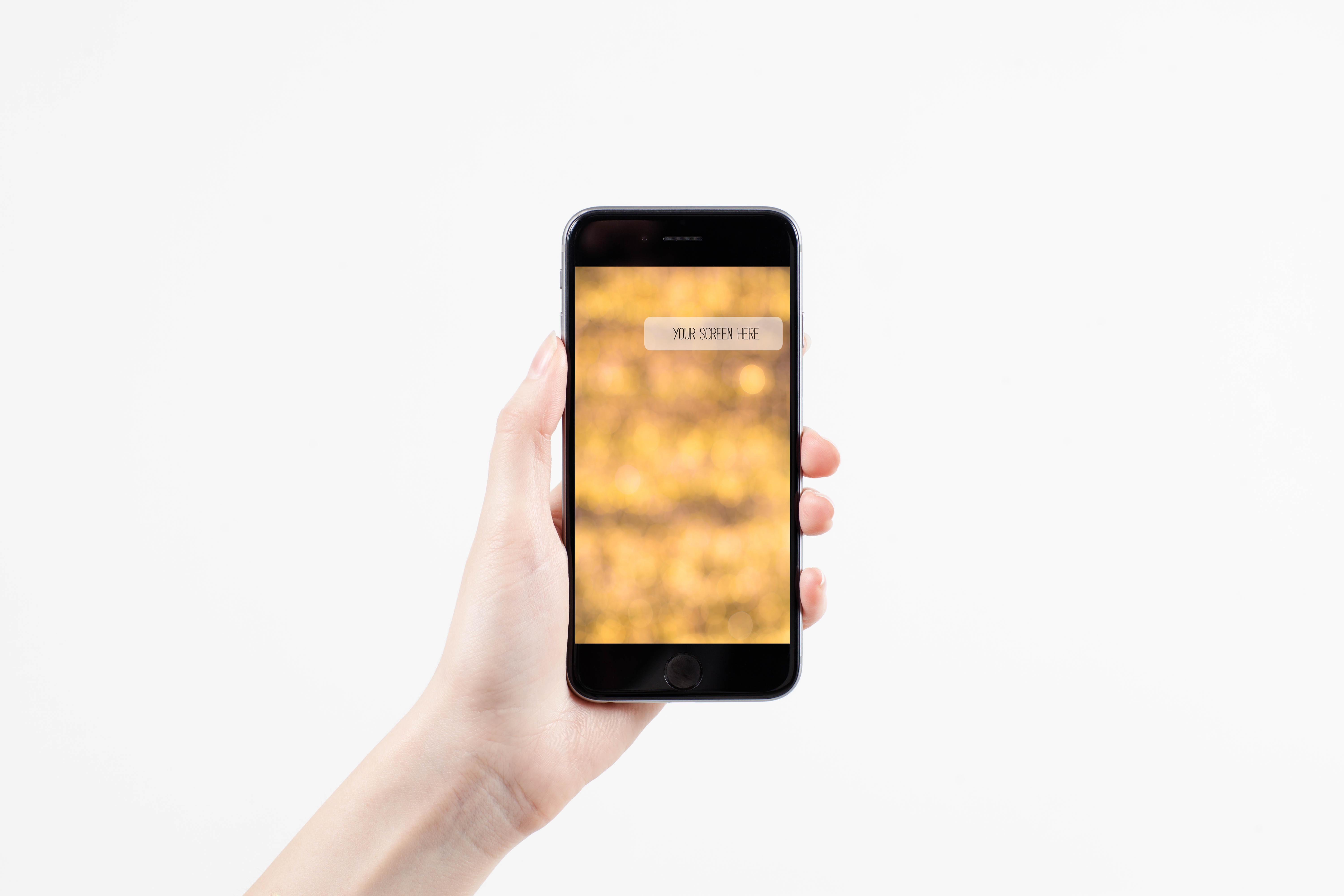 Set from 6 iPhone mockups example image 4