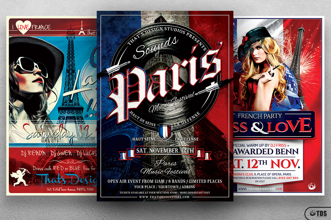 French Party Flyer Bundle example image 2