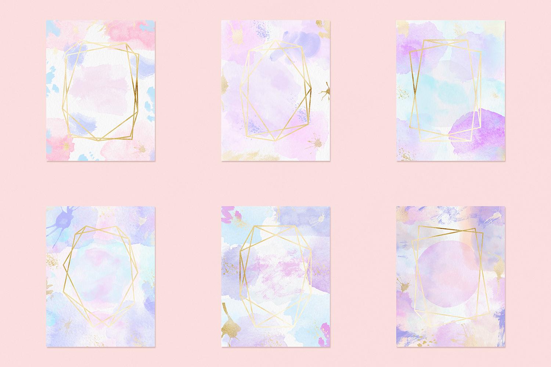 Watercolor Invitation Frames example image 2
