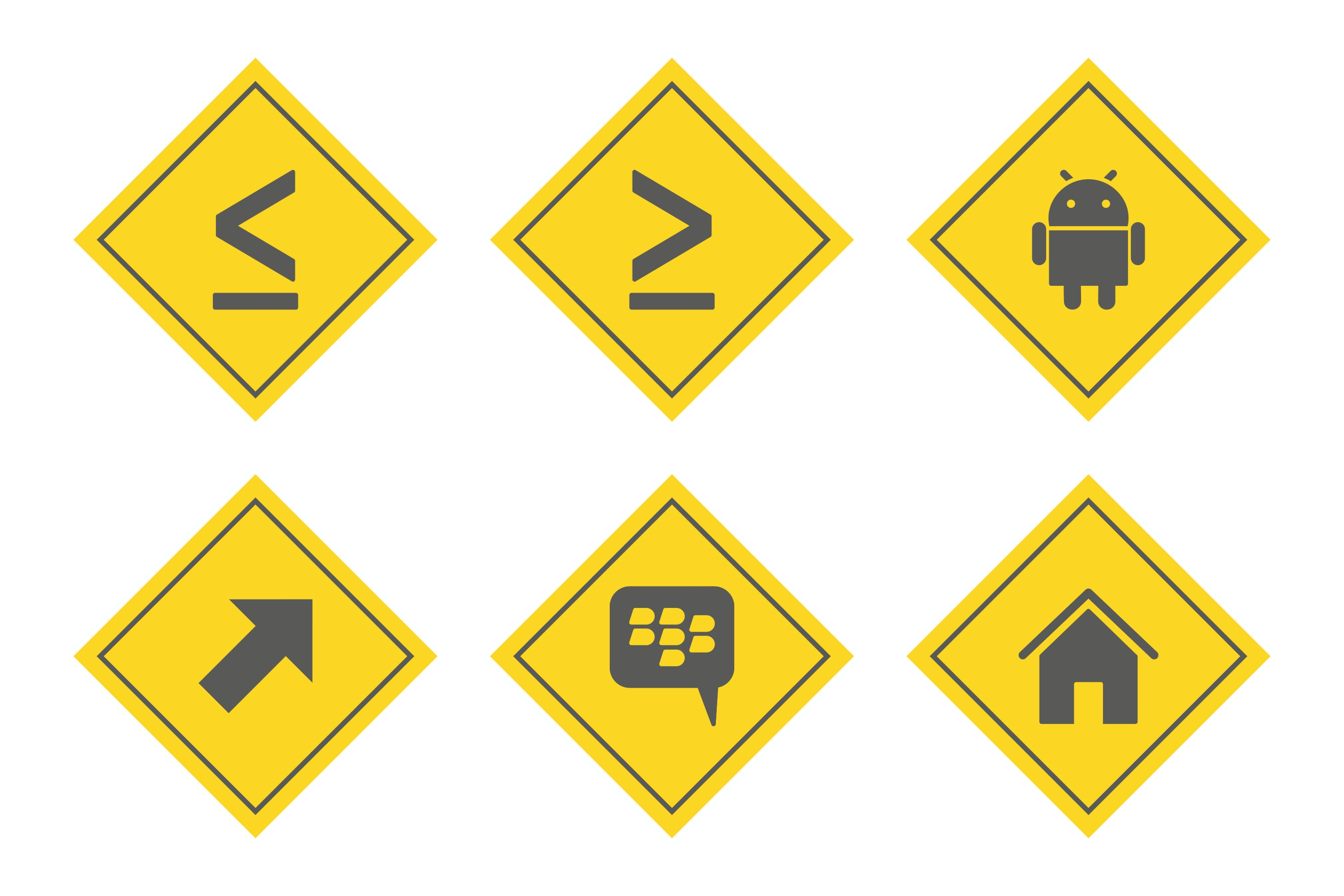 Set Of Basic Elements Icons example image 1