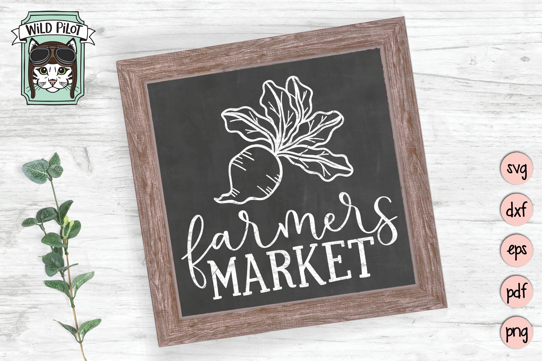 Farmers Market SVG, Farm Cut file, Kitchen, Vegetable, Beet example image 2