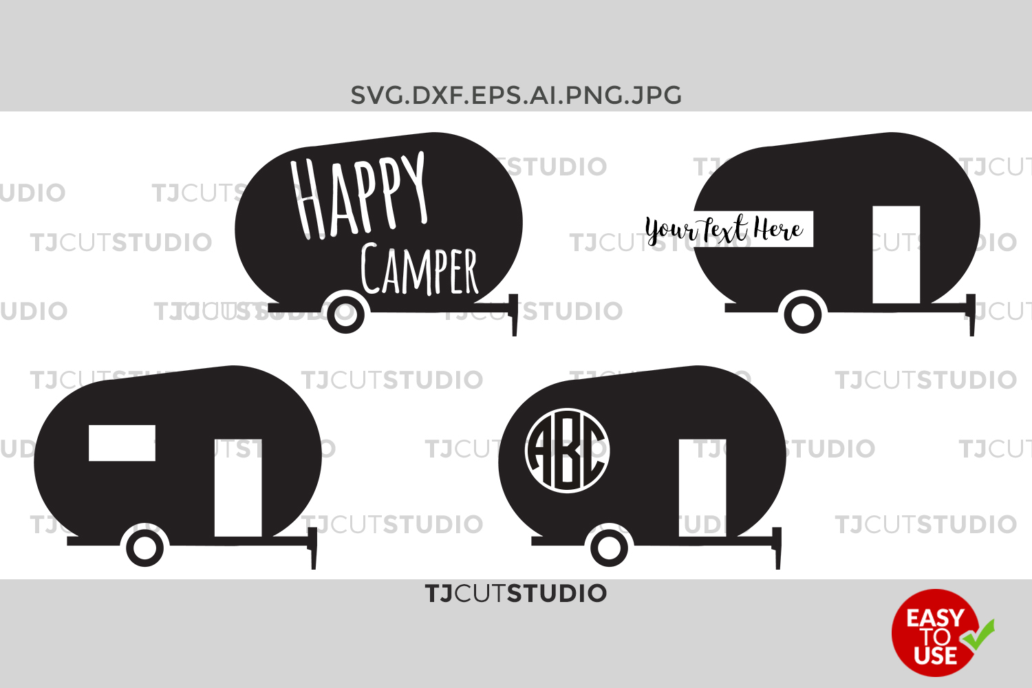 Camper Svg Happy Files For Silhouette Cameo Or