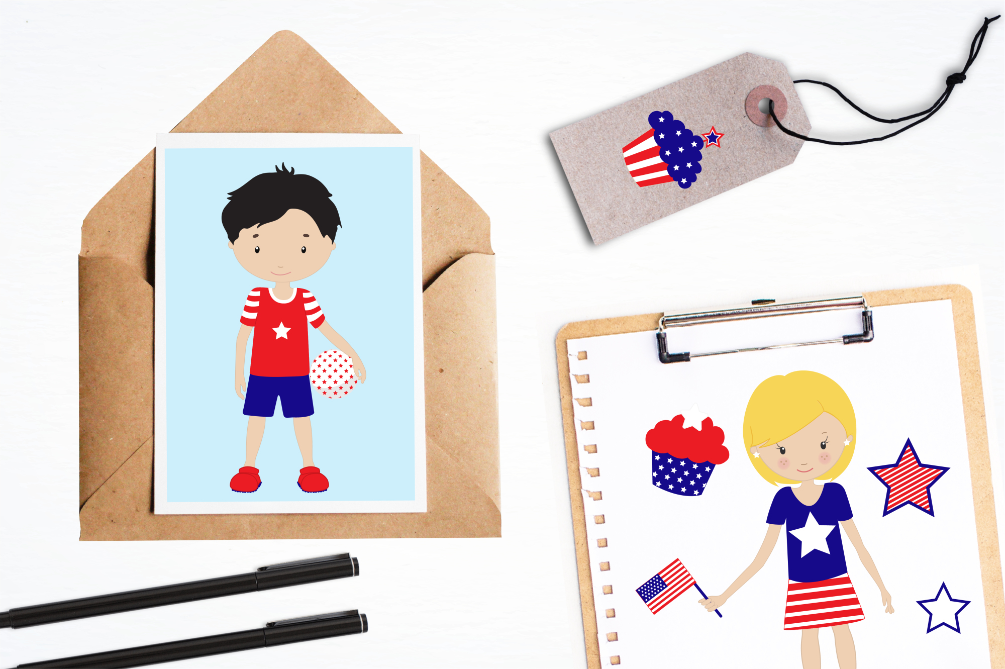 Independence Day graphics and illustrations example image 4