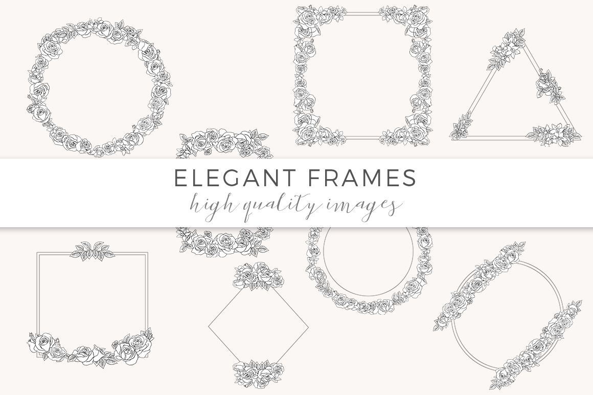 Ink Roses - Elegant roses and frames example image 4