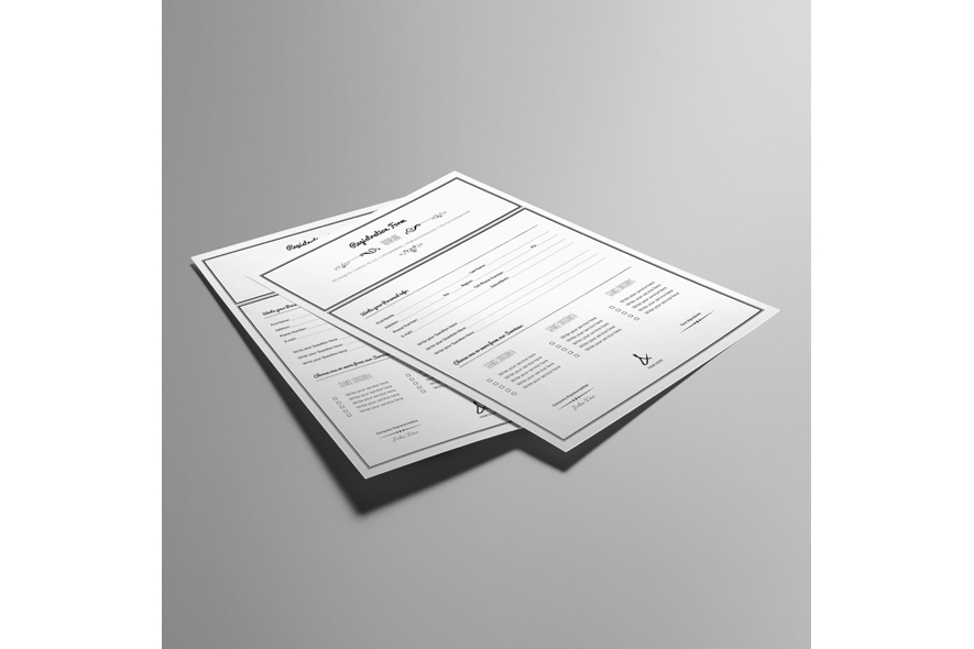 Registration Form Template v10 example image 3