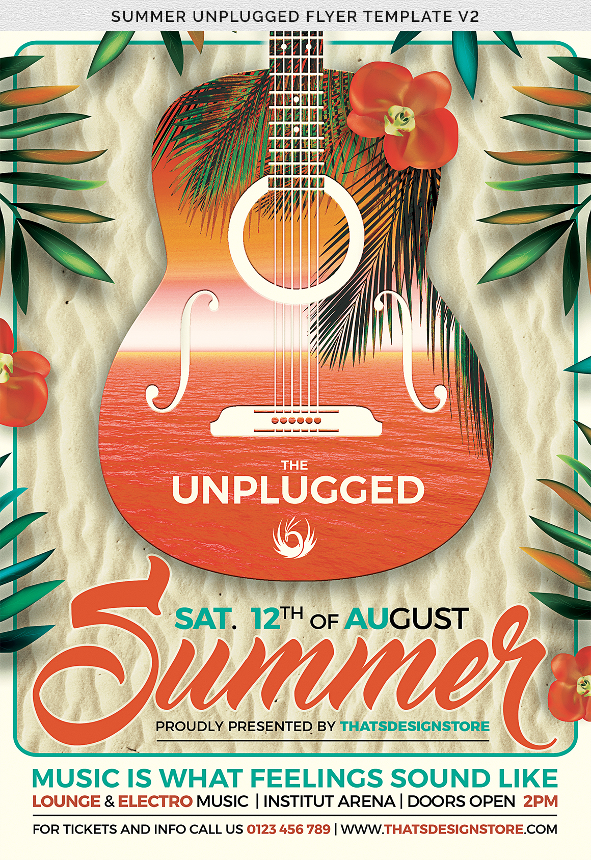 Summer Unplugged Flyer Template V2 example image 7