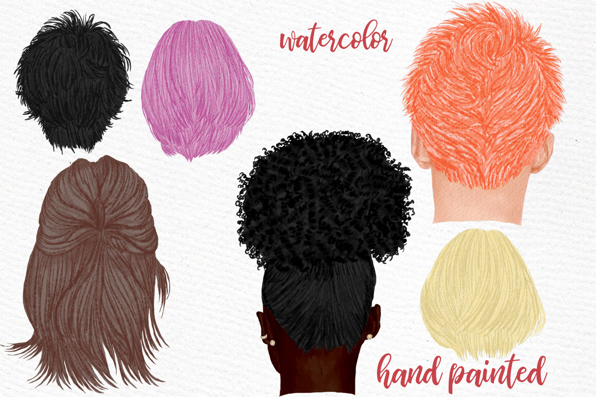 Hairstyles clipart, Girls Hairstyles,Custom Boys Hairstyles example image 2