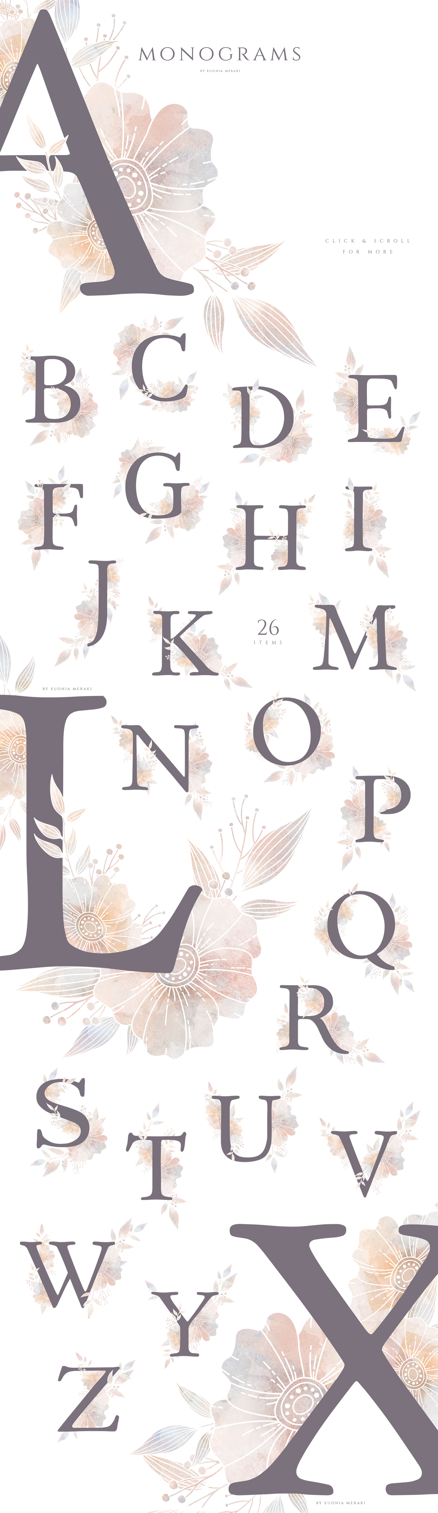 MISTY Dusty Floral Graphics and Monograms example image 10