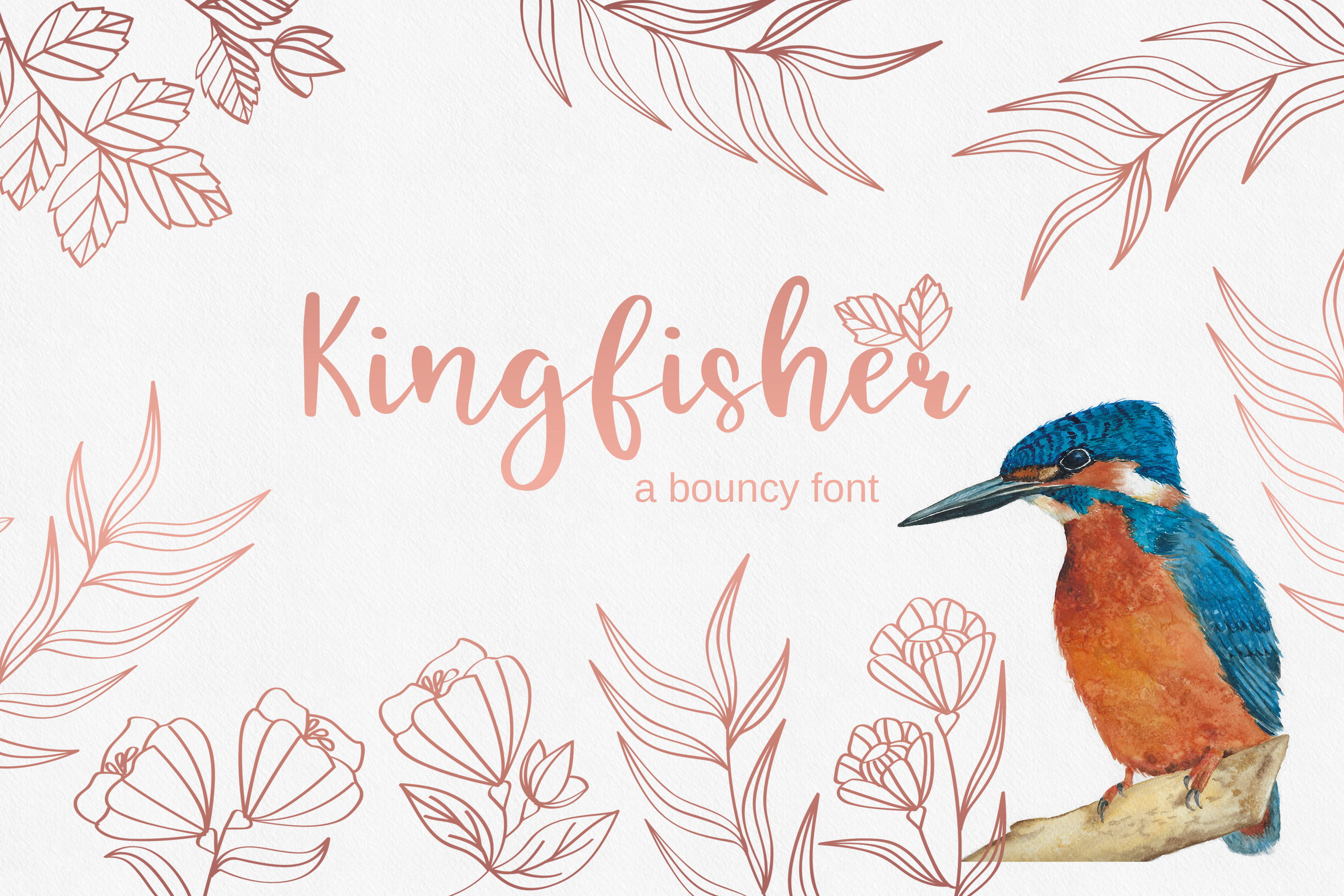 Kingfisher, modern calligraphy font example image 1