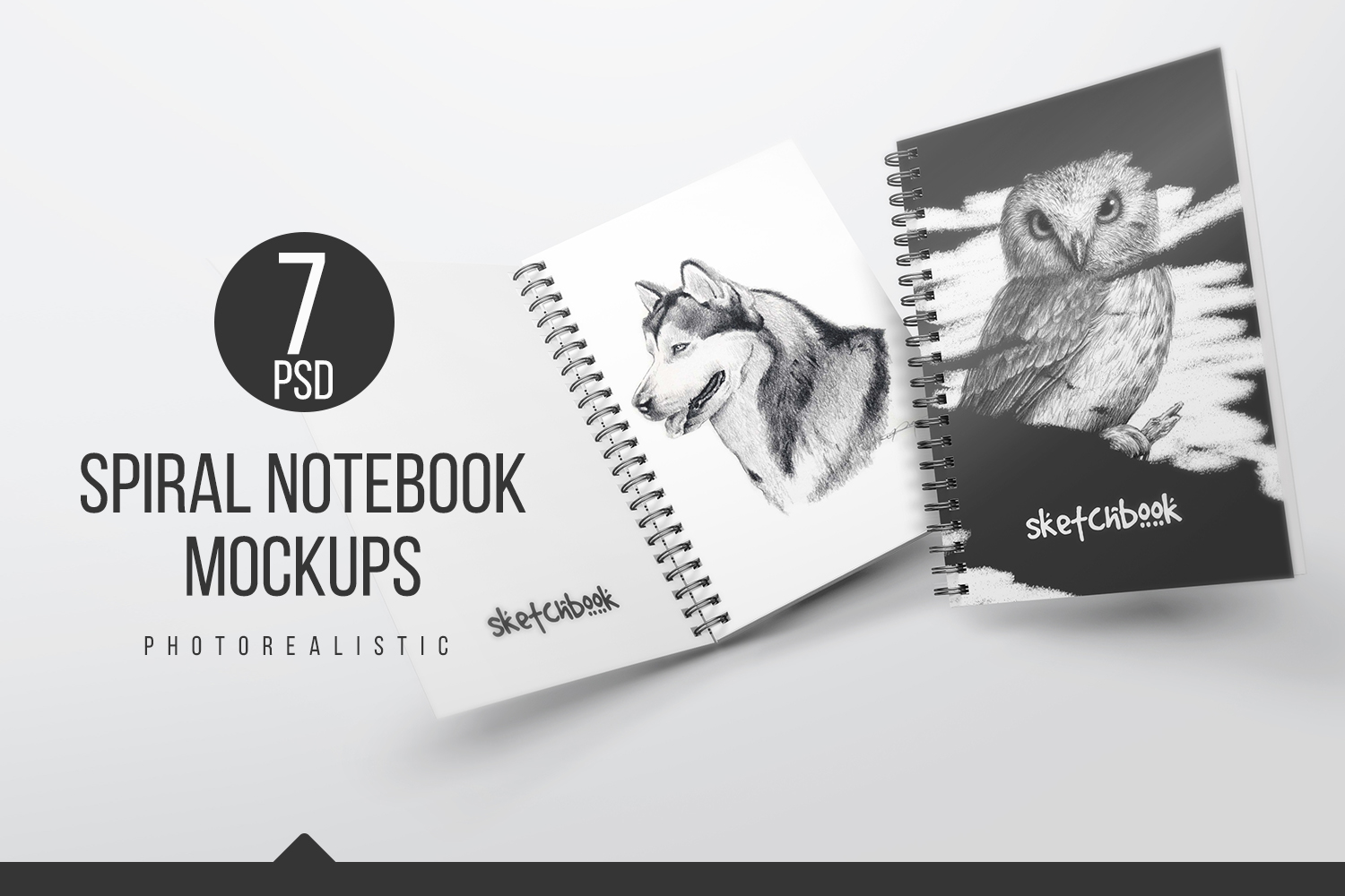 A5 Spiral Notebook Mockups example image 1