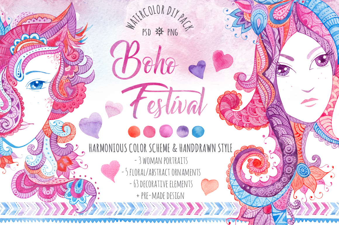 ?Boho Festival? DIY Pack example image 1