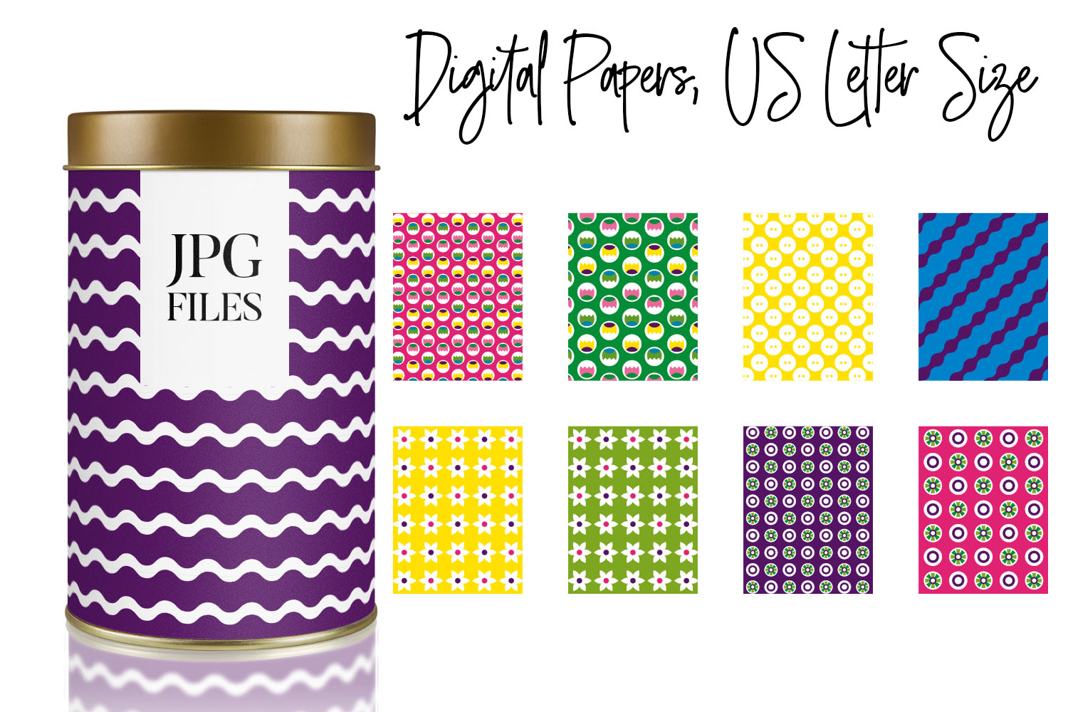 Digital Papers Bundle Vol. 2 - Background Patterns example image 12