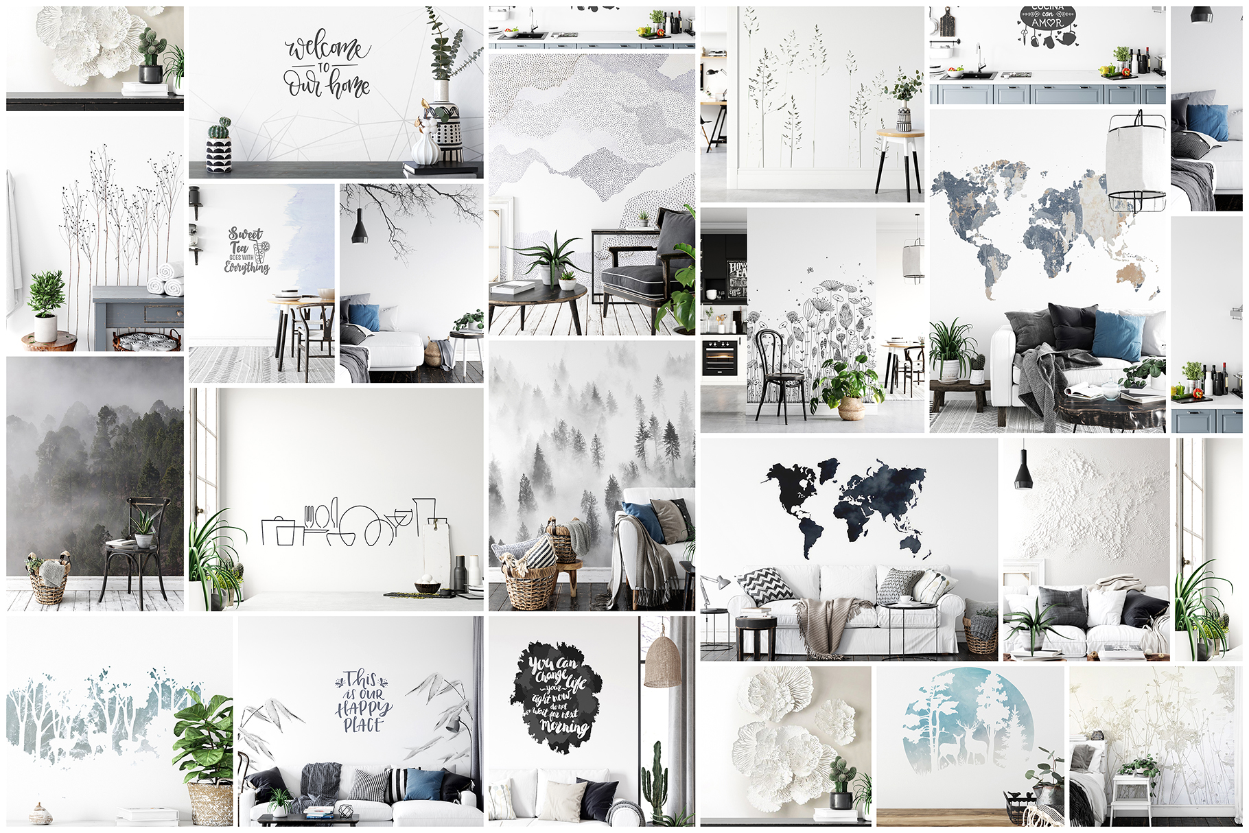 Scandinavian Interior Frames & Walls Mockup Bundle - 3 example image 2