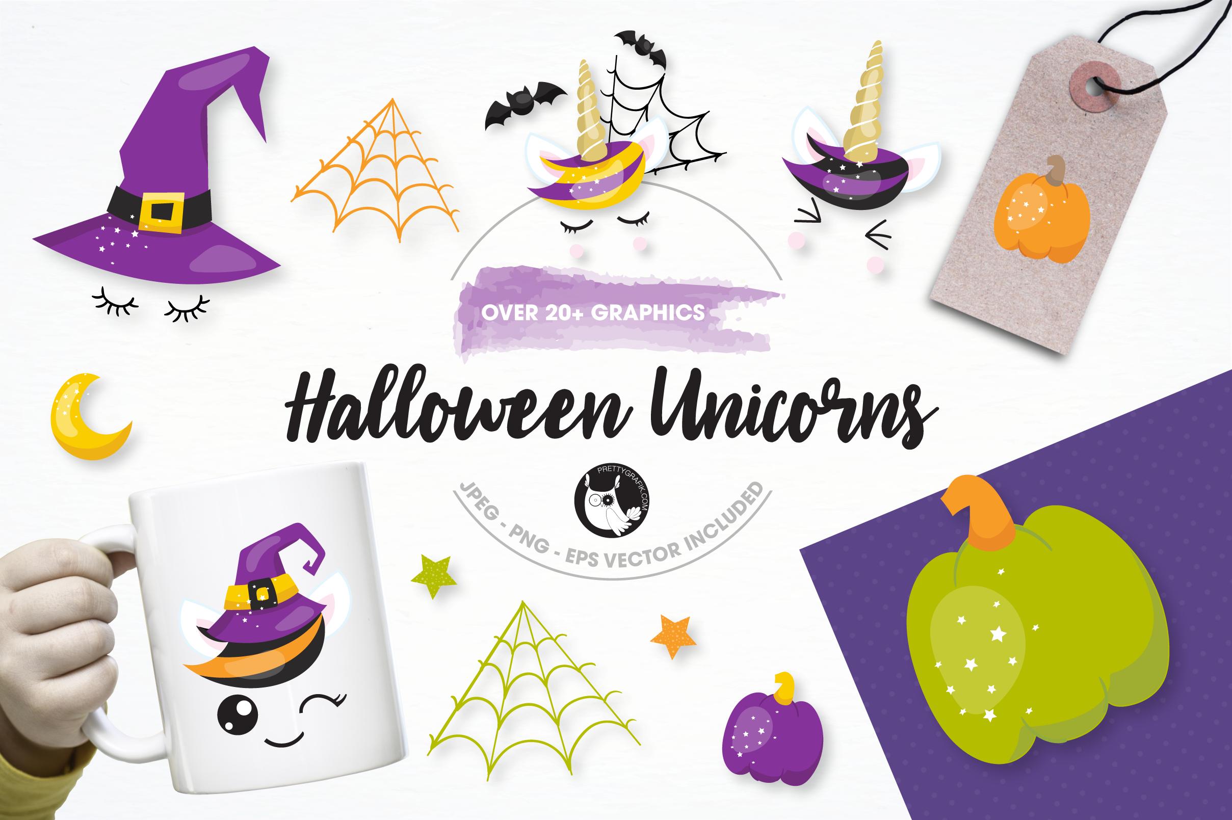Halloween unicorns graphics and illustrations example image 1