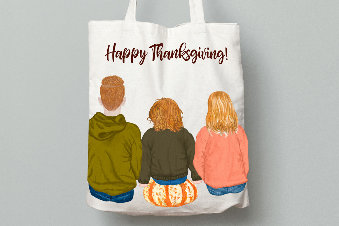 Autumn clipart, Family Clipart, Family Illustrations example image 5