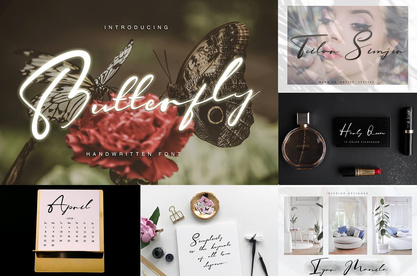 Handwritten Font Bundle 5 in 1 example image 4