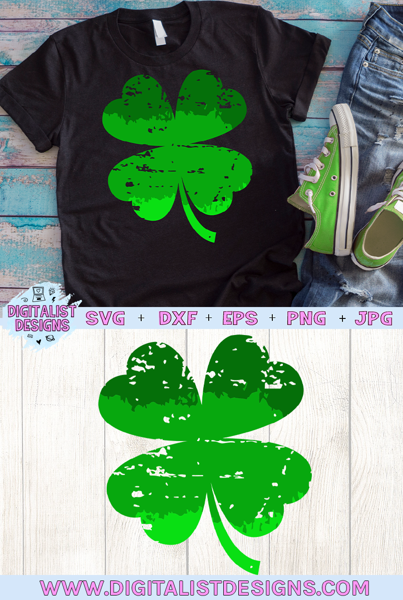 St. Patrick's Day SVG   Four Leaf Clover SVG   Ombre SVG example image 2
