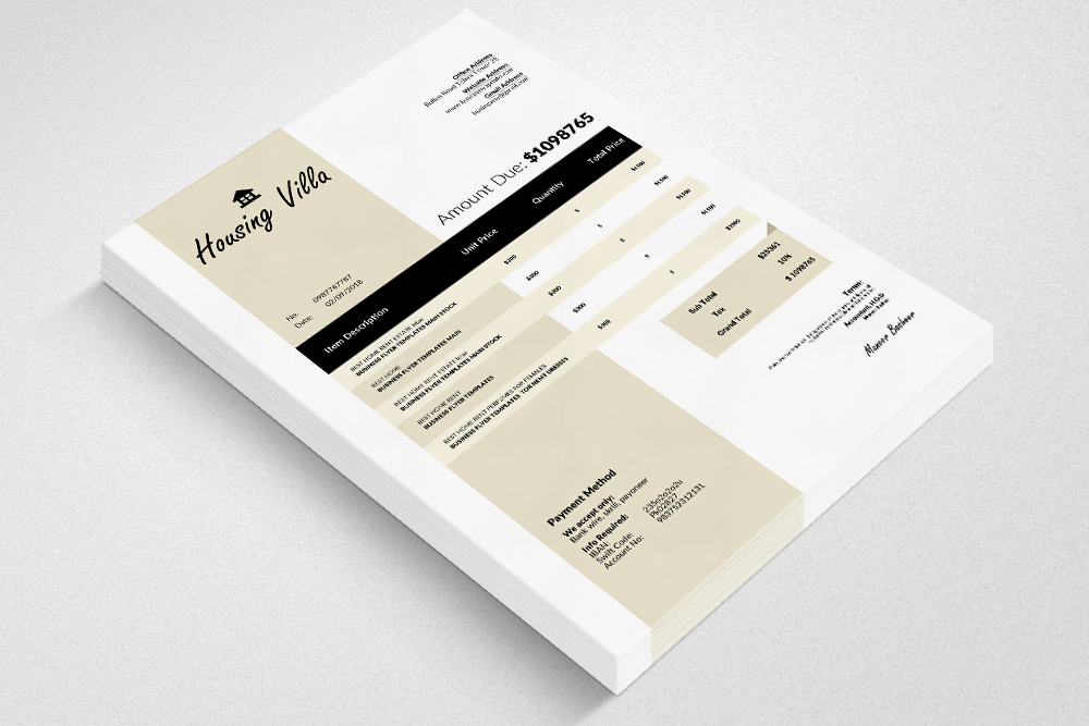 Invoice Word Template example image 2
